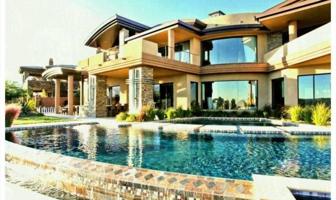 Modern Big Mansions Pools Home Design Gombrel