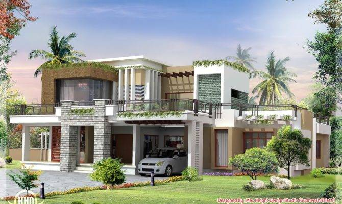 Modern Contemporary Home Design Kerala Floor Plans