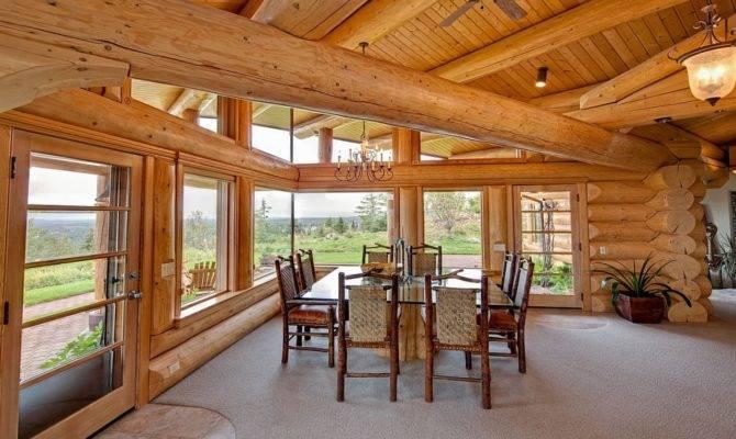 Modern Contemporary Log Home Cabin Homes