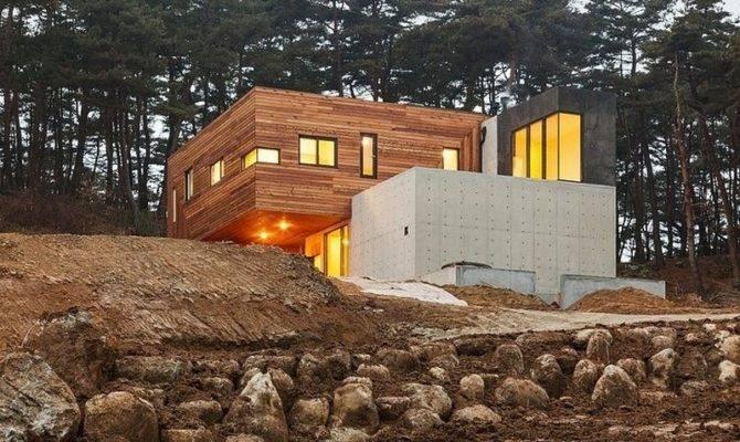 Modern Countryside Residence South Korea Living Knot