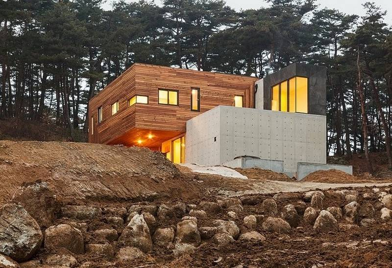 Modern Countryside Residence South Korea Living Knot