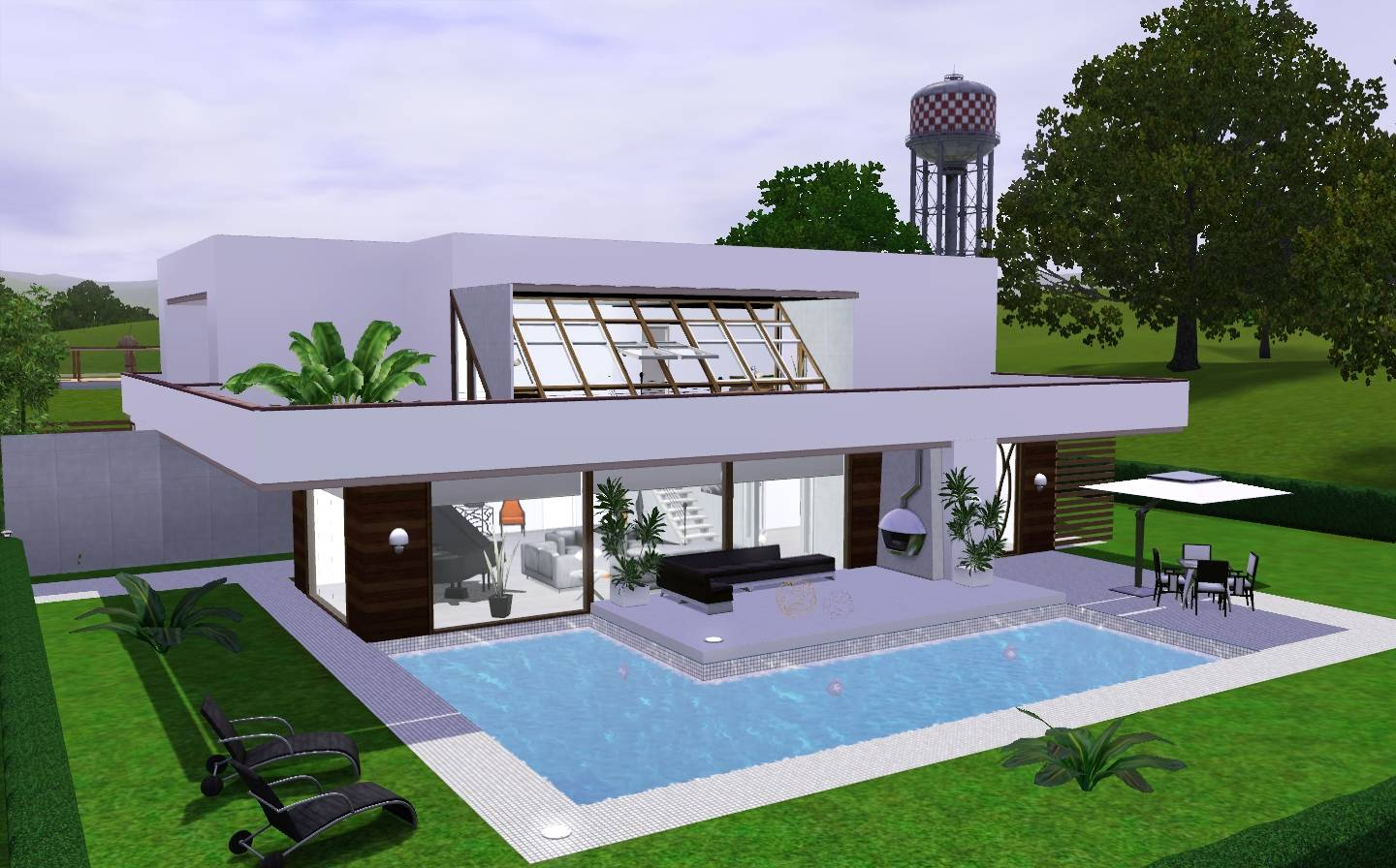 Modern Cozy House Sims Via