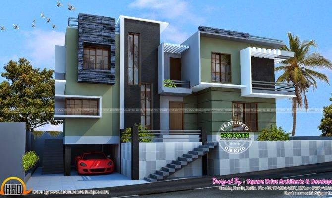 Modern Duplex House Kerala Home Design Floor Plans