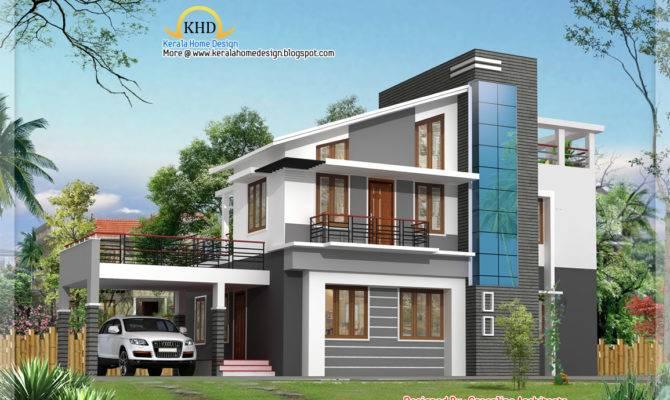 Modern Duplex Villa Elevation Kerala Home
