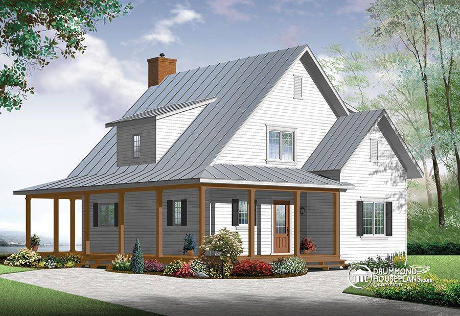 Modern Farmhouse Drummond House Plans