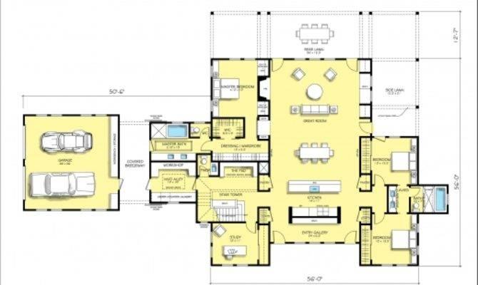 Modern Farmhouse Plans House Floor