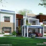 Modern Flat Roof Contemporary Home Kerala Design Floor