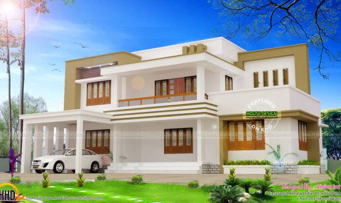 Modern Flat Roof House Plan Vision Int Arch Kerala