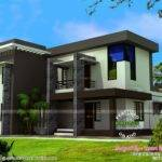 Modern Flat Roof House Square Feet Kerala Home Design Floor
