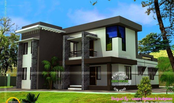 Modern Flat Roof House Square Feet Kerala Home