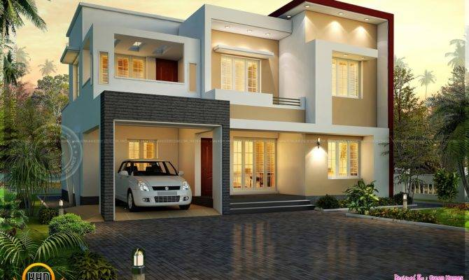 Modern Flat Roof House Square Feet Kerala Home