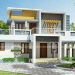 Modern Flat Roof House Square Yards Kerala Home Design