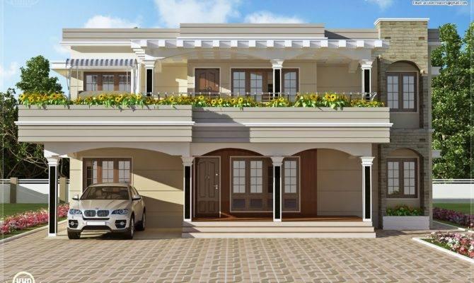 Modern Flat Roof Villa Feet House Design Plans