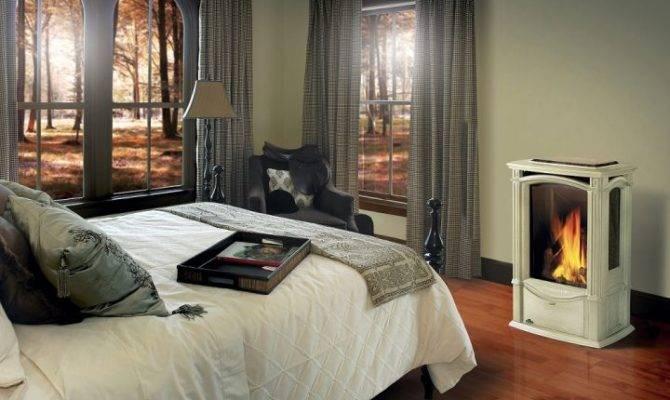 Modern Gas Fireplace Master Bedroom Design Ideas
