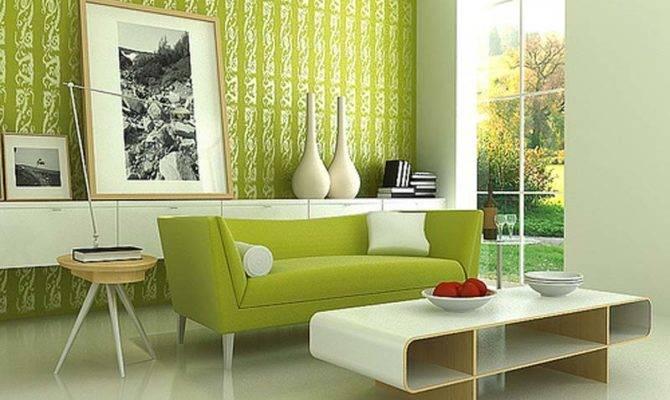 Modern Green Wall Decoration Diy Decorating Room Design Ideas