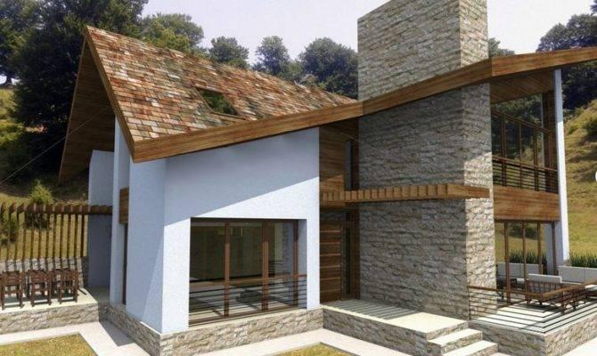 Modern Home Plans Courtyard Large Windows Open