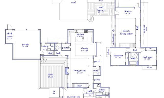 Modern House Designs Floor Plans Cottage