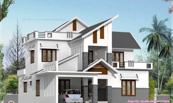 Modern House Elevation Feet Indian Plans
