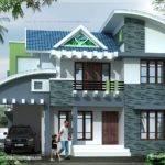 Modern House Elevation Square Feet Kerala Home Design