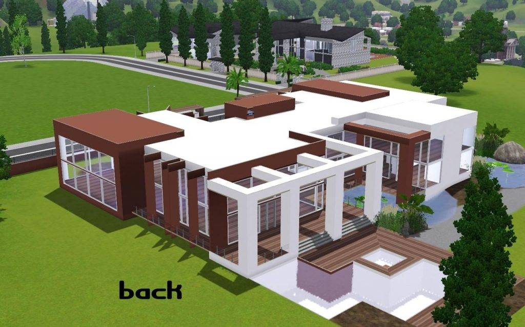 Modern House Floor Plans Sims Awesome Home Design