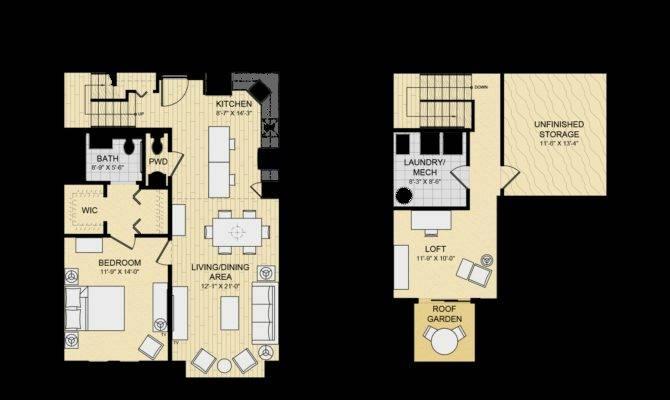 Modern House Plans Bedroom Loft Floor Plan Open Design