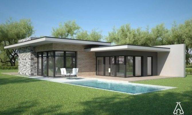 Modern House Plans One Story Contemporary Single