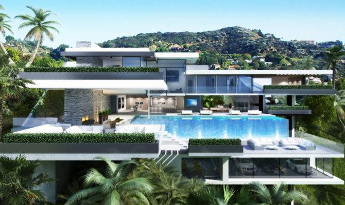 Modern Mansion Sunset Plaza Drive Designrulz