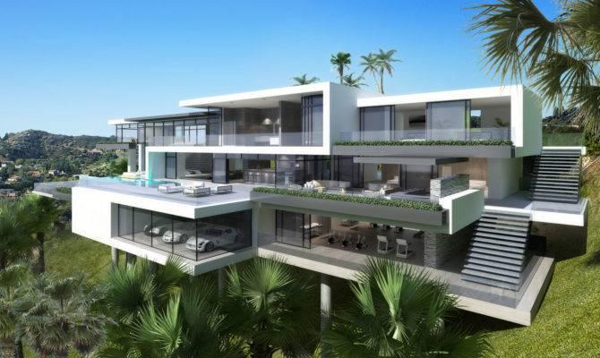 Modern Mansions Sunset Plaza Drive Plan House