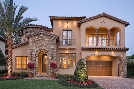 Modern Mediterranean Style House Plans Home Design