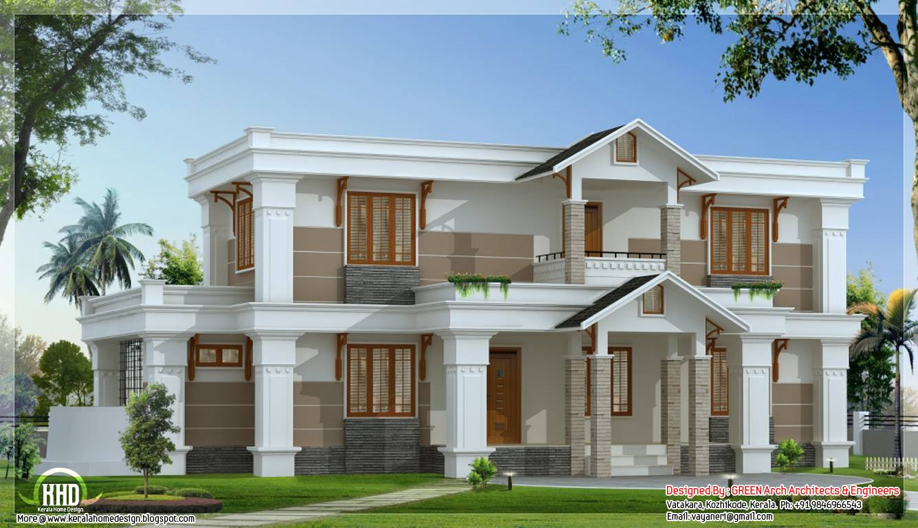 Modern Mix Sloping Roof Home Design Feet
