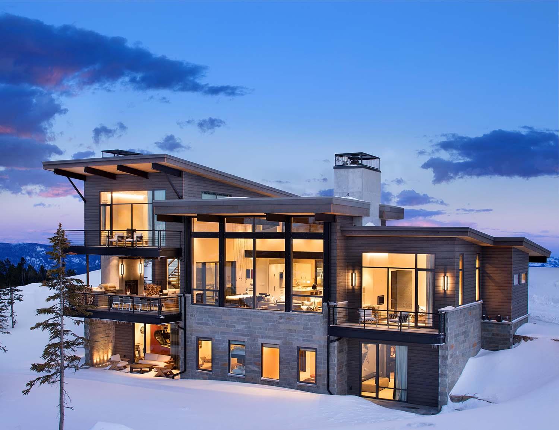 Modern Mountain Home Boasts Chic Stylish Living Montana