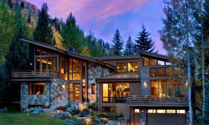 Modern Mountain House Breathtaking Beauty Decohoms