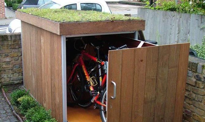 Modern Outdoor Bike Garage Treesaurus
