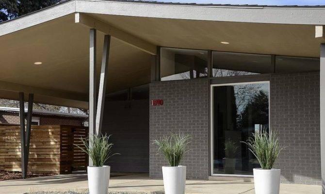 Modern Porch Pinterest Front Porches Mid Century