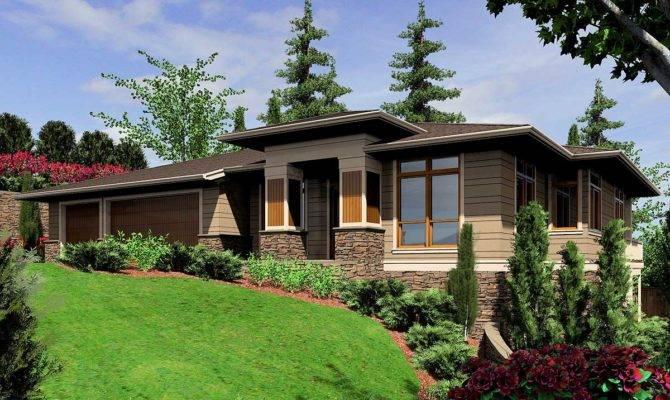 Modern Prairie Style Home Plan Architectural