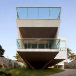 Modern Resort Style Home Geometry Glass