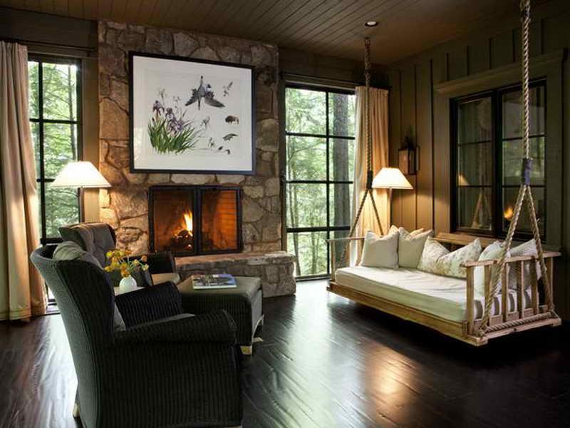 Modern Rustic Cabin Decor Dark Color