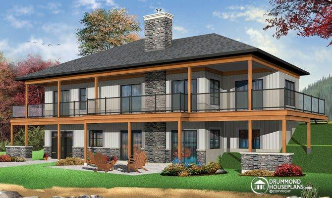 Modern Rustic Cottage Hous Plan Drummond House Plans