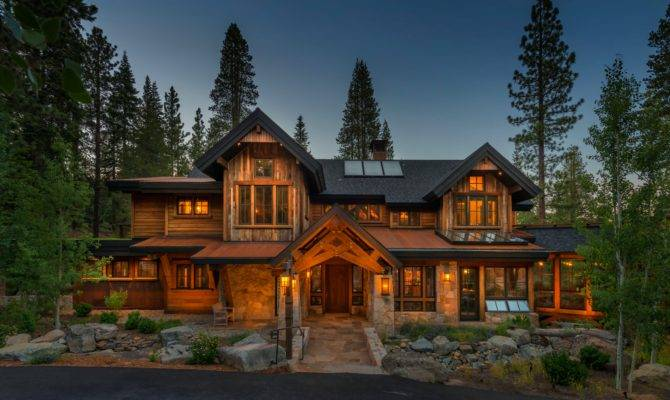 Modern Rustic Mountain Home Design Ideas Gombrel