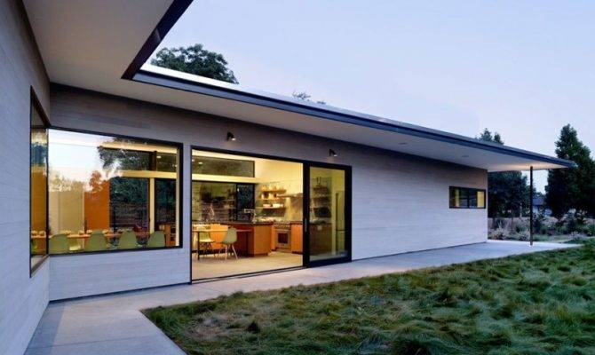 Modern Shaped House Roof Overhangs