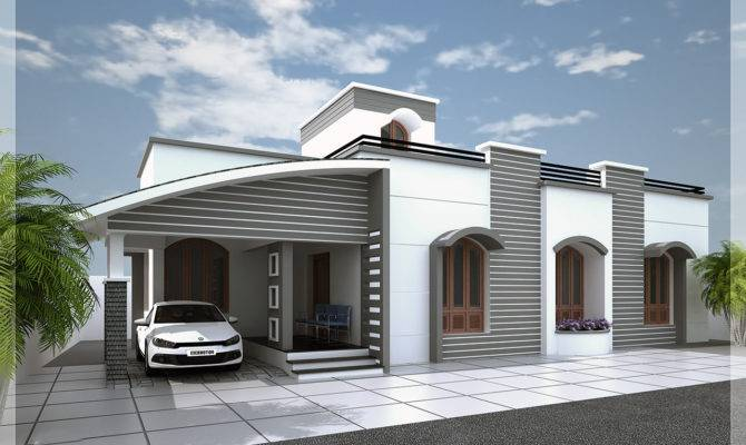 Modern Single Floor Kerala Villa