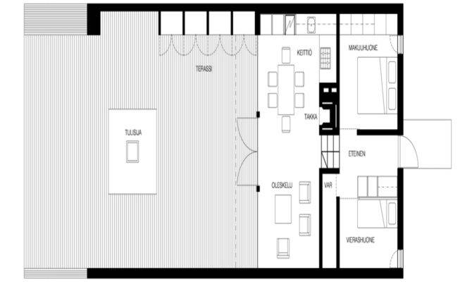 Modern Small Beach Cottage Floor Plans