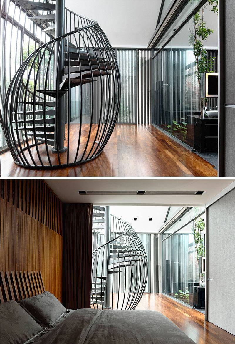 Modern Spiral Staircases Found Homes Around