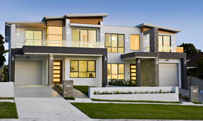 Modern Style Duplex Plans Just House