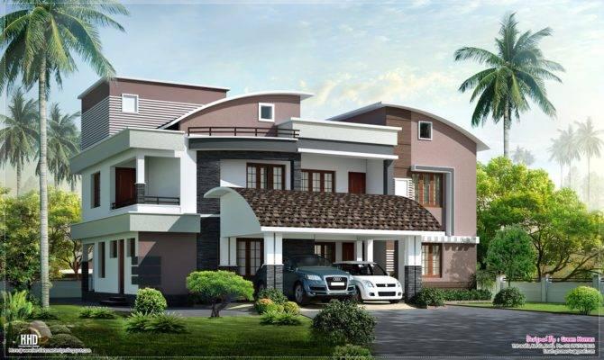 Modern Style Luxury Villa Exterior Design Kerala Home