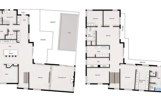 Modern Swedish Villa Floor Plan