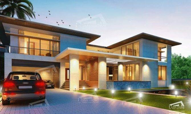 Modern Tropical House Plans Contemporary