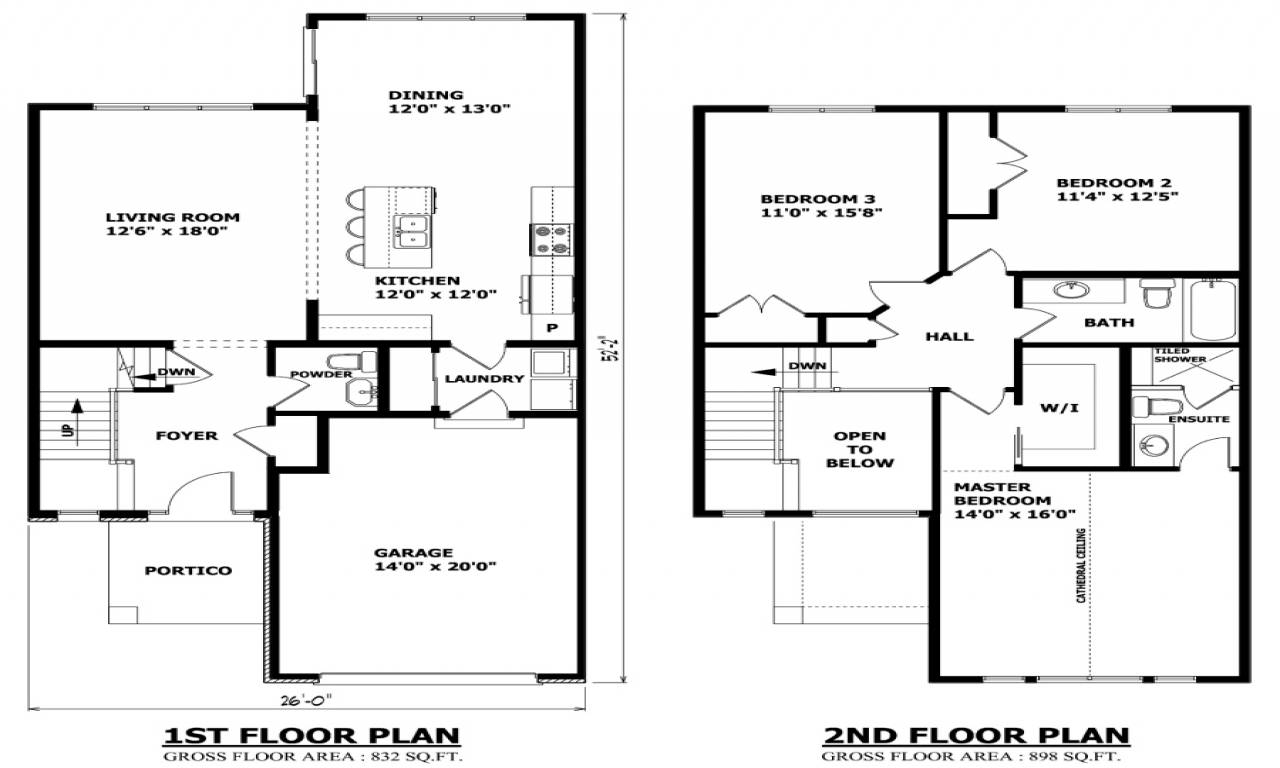 Modern Two Story House Plans Floor Storey