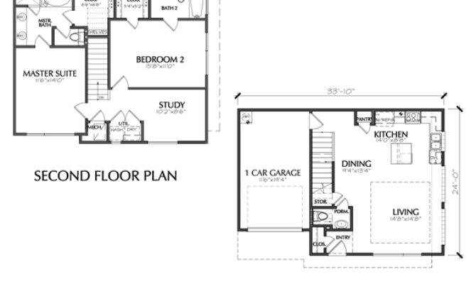 Modern Two Story Townhouse Floor Plan Sale