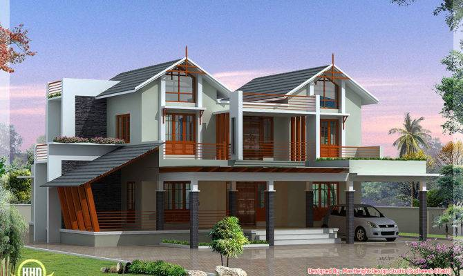 Modern Unique Villa Design Kerala Home